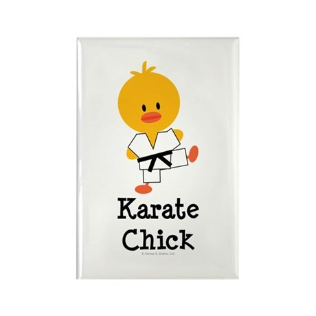 Karate Chick Rectangle Magnet