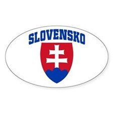 Slovakia Oval Decal