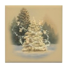 Christmas Fairytale Tile Coaster
