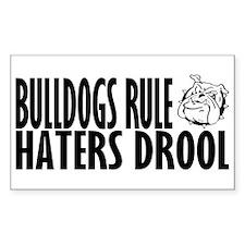 Bulldogs Rule Rectangle Sticker 50 pk)