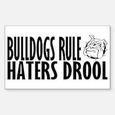 Bulldogs Rule Rectangle Sticker 10 pk)