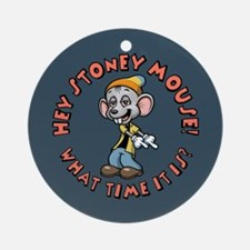Stoney Mouse -Time Ornament (Round)