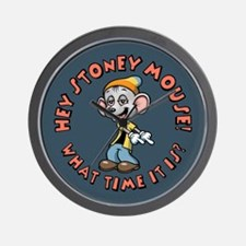 Stoney Mouse -Time Wall Clock