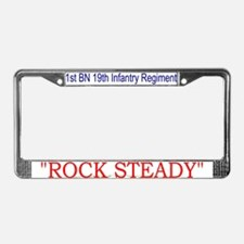 Funny Trainee rock steady License Plate Frame