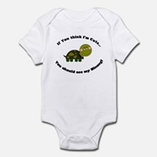Turtle Infant Bodysuit-Cute Ninong