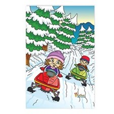 Fiaba's Snowmobile Adventure Postcards (Package of