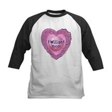 Twilight Mom Lilac Grunge Heart Crest Tee