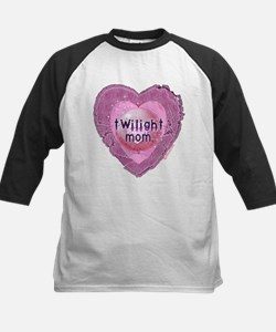 Twilight Mom Lilac Grunge Heart Crest Tee