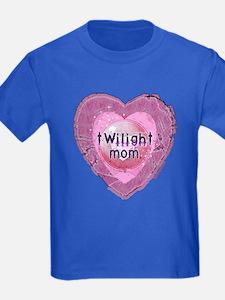 Twilight Mom Lilac Grunge Heart Crest T