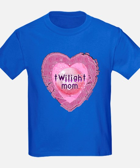 Twilight Mom Lilac Grunge Heart Crest T