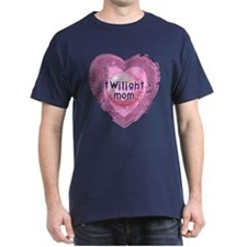 Twilight Mom Lilac Grunge Heart Crest T-Shirt