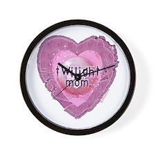 Twilight Mom Lilac Grunge Heart Crest Wall Clock