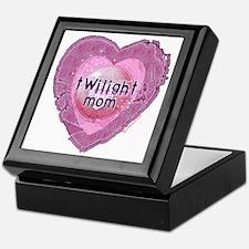 Twilight Mom Lilac Grunge Heart Crest Keepsake Box