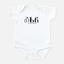 It says Hello Infant Bodysuit