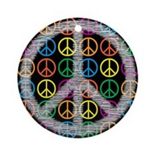 Peace Signs Ornament (Round)