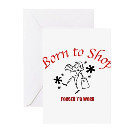 Born To Shop Greeting Cards (Pk of 20)