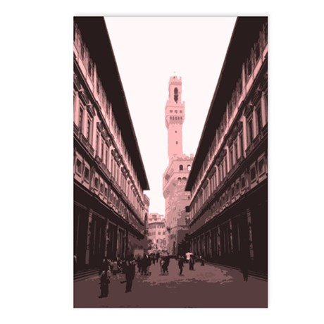 Piazza delgi Uffizi Postcards (Package of 8)