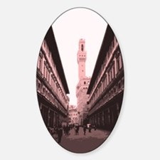 Piazza delgi Uffizi Oval Decal
