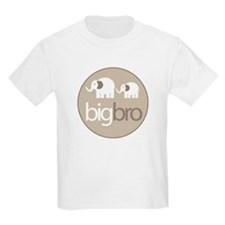 big brother t-shirt big and little elephant T-Shirt