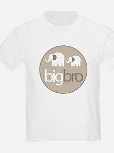 big brother t-shirt big and little elephant T-Shirt