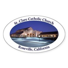 St. Clare Oval Decal