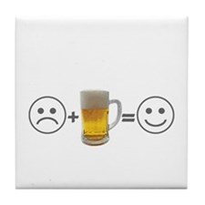 Beer makes me happy Tile Coaster