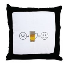 Beer makes me happy Throw Pillow