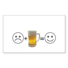 Beer makes me happy Rectangle Decal