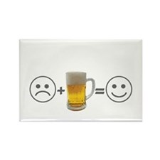 Beer makes me happy Rectangle Magnet