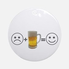 Beer makes me happy Ornament (Round)