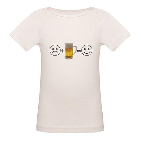 Beer makes me happy Organic Baby T-Shirt