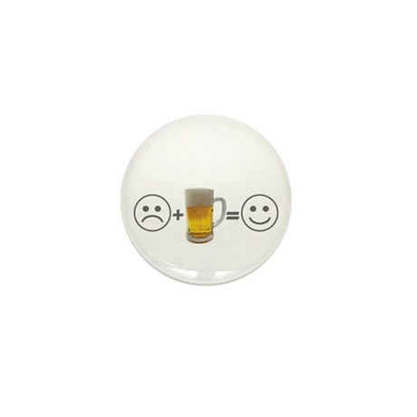Beer makes me happy Mini Button (10 pack)