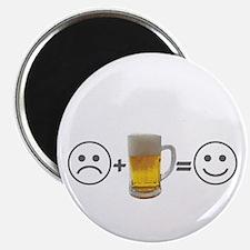 Beer makes me happy Magnet