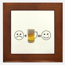 Beer makes me happy Framed Tile