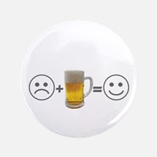 "Beer makes me happy 3.5"" Button (100 pack)"
