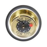 Brass high low tide tides nautical meter in Wall Clocks