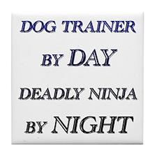 Cute Dog trainer Tile Coaster