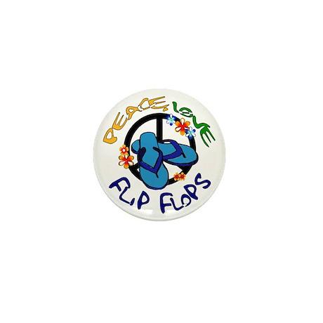 peace, love, flip-flops Mini Button (10 pack)