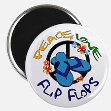 peace, love, flip-flops Magnet