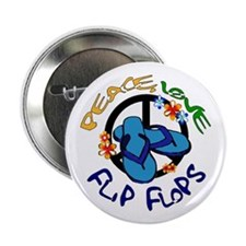 "peace, love, flip-flops 2.25"" Button"