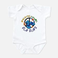 peace, love, flip-flops Infant Bodysuit