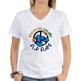 Flip flops beach Womens V-Neck T-shirts
