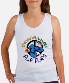 peace, love, flip-flops Women's Tank Top