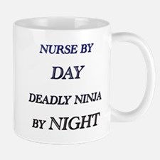 NURSE BY DAY Mugs