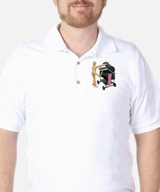 Preparing to barbeque Golf Shirt