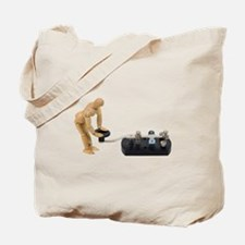 Touch communication Tote Bag