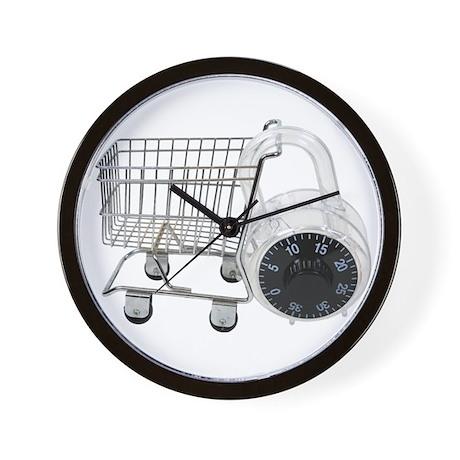 Secure shopping Wall Clock