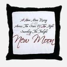 New Moon Rising Twilight Throw Pillow