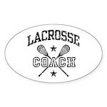 Lacrosse Coach Oval Sticker