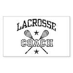 Lacrosse Coach Rectangle Sticker